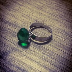 Green Sea Glass Handmade Ring